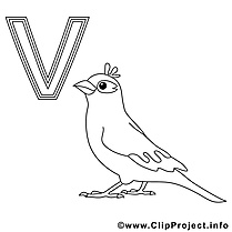 Vogel illustration – Alphabet allemand à imprimer