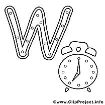 Watch image gratuite – Alphabet anglais à imprimer