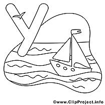 Yacht clip arts – Alphabet anglais à imprimer