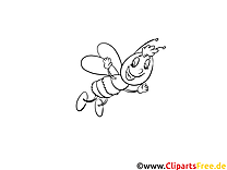 Abeille illustration – Animal à imprimer