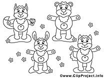 Animaux illustration gratuite à imprimer