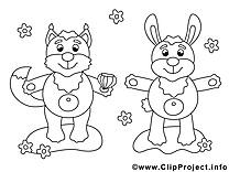 Écureuil clip art gratuit – Animal à imprimer