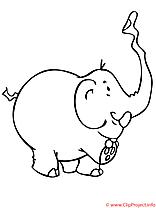Elephanteau coloriage