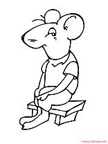 La souris s'ennuie coloriage