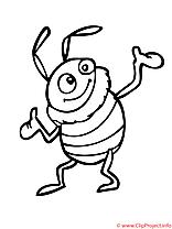 Le scarabee danse coloriage