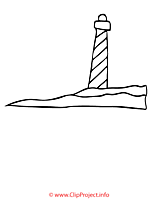 Phare coloriage