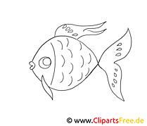 Poisson clip art gratuit – Animal à imprimer