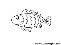 Poisson clipart – Animal dessins à colorier