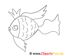 Poisson doré clipart gratuit – Animal à colorier