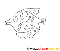 Poisson images gratuites – Animal à colorier