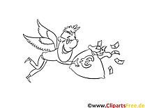 Ailes image – Coloriage argent illustration