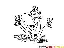 Banquier clip arts – Argent à imprimer