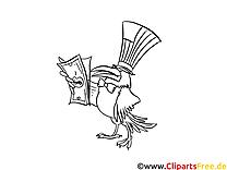Corbeau cliparts gratuis – Argent à imprimer