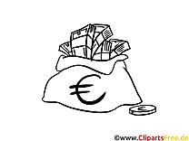 Euro dessin – Coloriage argent à télécharger