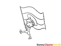 Drapeau soldat dessin gratuit à télécharger