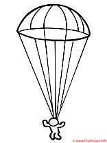 Parachutiste  coloriage