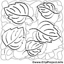 Feuilles clip arts – Automne à imprimer