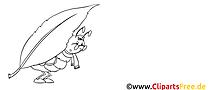 Fourmi clip art – Automne image à colorier