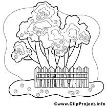 Jardin clipart gratuit – Automne à colorier