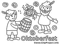 Oktoberfest clipart – Automne dessins à colorier