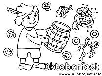 Oktoberfest dessin – Coloriage automne à télécharger