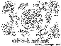 Oktoberfest dessin gratuit – Automne à colorier