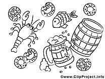 Oktoberfest dessins gratuits – Automne à colorier
