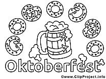Oktoberfest image gratuite – Automne à colorier