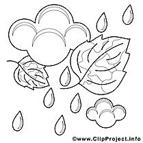 Pluie dessin – Automne gratuits à imprimer