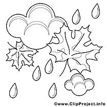 Pluie image à télécharger – Automne à colorier