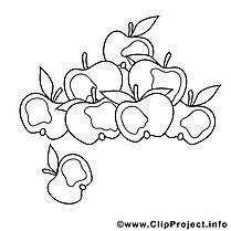 Pommes clip arts – Automne à imprimer