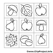 Récolte images – Automne gratuits à imprimer