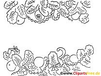 Sapin clip art – Nouvel an image à colorier