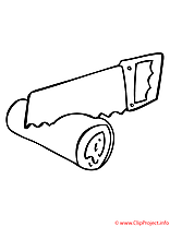 Scie clipart gratuit – Automne à colorier