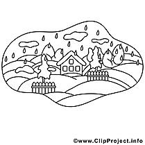 Village clip art gratuit – Automne à imprimer