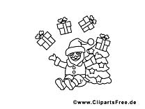 Cadeaux clipart – Avent dessins à colorier