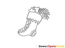 Chaussette dessin – Avent gratuits à imprimer
