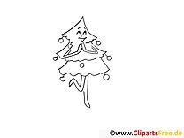 Clip art gratuit sapin – Avent à imprimer