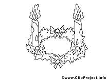 Illustration couronne – Avent à imprimer