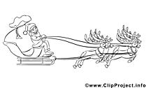 Luges clip art – Avent image à colorier
