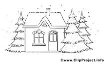 Maison image à télécharger – Avent à colorier