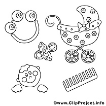 Bébé illustration image coloriage gratuite