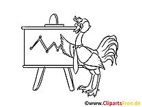 Autruche stratégie clip art à colorier – Bureau images