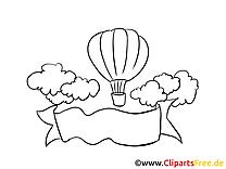 Ballon images à colorier – Bureau clipart