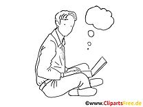 Clipart à colorier tâche – Bureau dessins gratuits