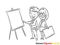 Coloriage clipart bureau dessins gratuits