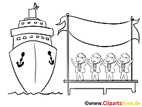Coloriage navire images – Bureau clip art gratuit