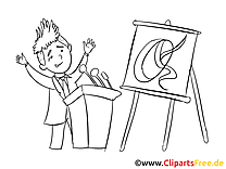 Conférence images à imprimer – Bureau dessins gratuits