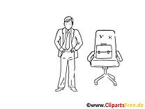 Directeur dessin à imprimer – Bureau clip arts gratuits