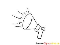 Haut-parleur cliparts à colorier – Bureau images
